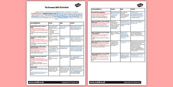 The Romans Planning Overview - rome, romans, lesson plan, plans