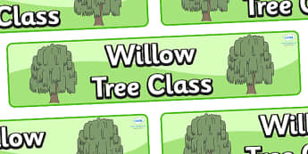 Willow Themed Classroom Display Banner - Themed banner, banner, display banner, Classroom labels, Area labels, Poster, Display, Areas