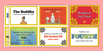 Buddhism Fact Cards - buddhist, Buddha, India, monk, meditation