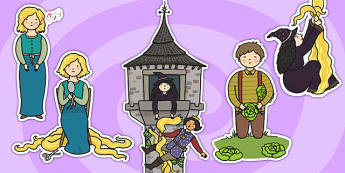 Rapunzel Story Cut Outs - Rapunzel, prince, witch, tower, long hair, fairytale, traditional tale, Brothers Grimm, tower, woods, forest, prince, let down your hair, story, story sequencing, cut outs