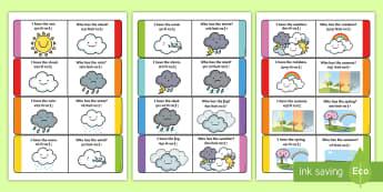 Weather Loop Cards English/Hindi - weather, loop cards, loop, cards, activity, waether, WHEATHER, wetaher, weaher,EAL.