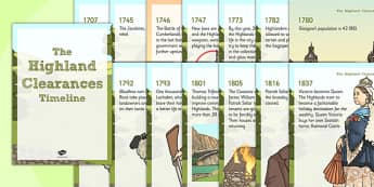 The Highland Clearances Timeline Posters - highland, clearances