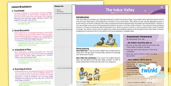 PlanIt - History UKS2 - The Indus Valley Civilisation Planning Overview