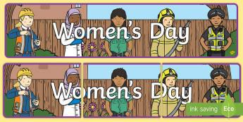 Women's Day Display Banner - women's day, 8th March, womens day, women, girls banner