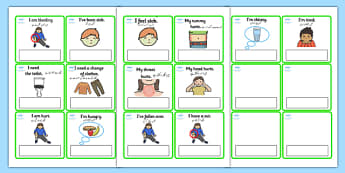 EAL Emergencies Editable Cards with English Urdu Translation - urdu, EAL, emergencies, editable, cards, editable cards, EAL cards, english, themed cards, cards with english