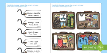 Packing for Weather Around the World Activity English/Romanian  - Packing for Weather Around the World Activity - activity, game, fun, fun activity, packing, holiday,