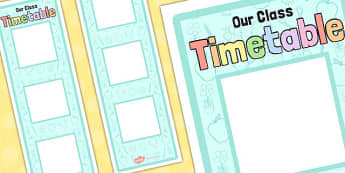 Vertical Visual Timetable Display Neutral Colours - timetable, display