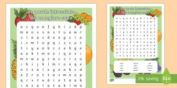 Mangiare Sano Parole Intrecciate - cibo, mangiare, sano, italiano, italian, salute, saluare, alimenti, parole, intrecciate