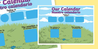 Daily Weather Calendar Weather Chart Long Date Format Spanish Translation - spanish, daily, weather, calendar, weather chart, long date