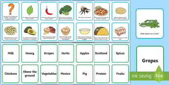 Food Facts Question and Answer Matching Cards - CfE Health and Wellbeing Resources, Food Facts, where does our food come from? group tasks, food pro