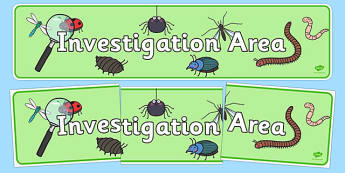 Investigation Area Sign - Classroom Area Signs, KS1, Knowledge and understanding of the world, Banner, Foundation Stage Area Signs, Classroom labels, Area labels, Area Signs, Classroom Areas, Poster, Display, Areas