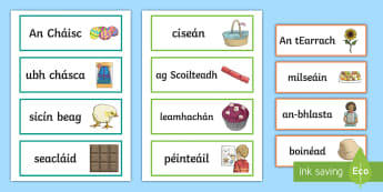 Easter Key Vocabulary Display Labels Gaeilge - ROI, Easter, words, key vocabulary, Irish, religion, Christianity, RE, religious education, religiou