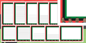 Black History Month Page Borders - page borders, black history month