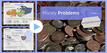 Budget at Home Money Problems PowerPoint GCSE Grades 1-3 - KS3, KS4, GCSE, Maths, Finance, Budget, Home