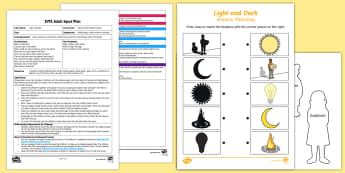 EYFS Take a Peek Inside the Box! Adult Input Plan and Resource Pack - Light and Dark, shadows, torch, light, dark, box, shine, peek, similarities, difference, patterns, c