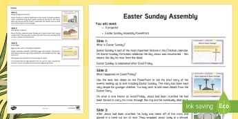 Easter Sunday Assembly Script - KS1 Easter 2017 (16th April)