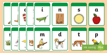 India Specific Phase 2 Phonics Flashcards - Twinkl Hope, phonics, phase 2, satpin, initial sounds,