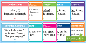 Year 3 and 4 Spelling, Punctuation and Grammar Word Mats - Spelling, Punctuation and Grammar  Word Mats, spelling, punctuation, grammar, word mats, display, ye