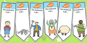 The Boy Who Cried Wolf Editable Bookmarks - stories, books, read