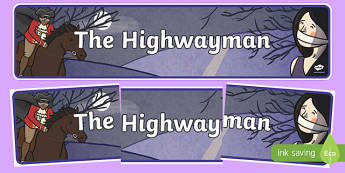 The Highwayman Display Banner - display, banner, the highwayman
