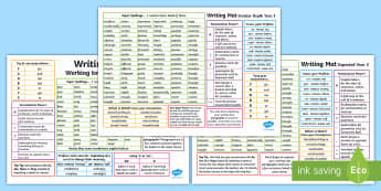 Year 3 Differentiated Writing Mats - writing targets, expected, levels, assessment, writing, writing mats, greater depth, working towards