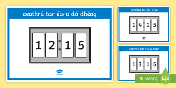 24 Hour Digital Clocks   Quarter Past Display Posters - Requests - ROI, Maths, Mata, time, 24 hour, digital clock, clog, am, ceathrú tar éis, Irish, Gaeil