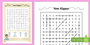 Yom Kippur Word Search