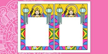 Diwali Editable Note From Teacher - diwali, editable note, editable, notes, writing, classroom notes, themed note, teacher notes, themed pages, page