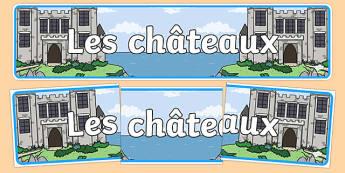 Châteaux Banderole d'affichage-French