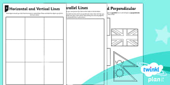PlanIt Y3 Properties of Shapes Types of Lines Home Learning - planit, properties of shape, home learning tasks