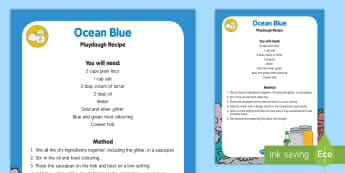 Ocean Blue Playdough Recipe - EYFS, Water, water cycle, rain, rivers, sea, oceans, dough disco, blue playdough, water, play dough,