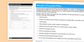 Emergency Evacuation Policy for Childminders - childminders
