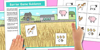 Farm Barrier Game - farm, barrier, game, activity, class, board