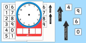 Analogue and Digital Clock Teaching Activity Romanian Translation - romanian, analogue, digital