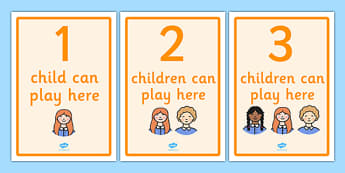 How Many Can Play Here Display Posters - Display, poster, classroom area display, how many can, child self management