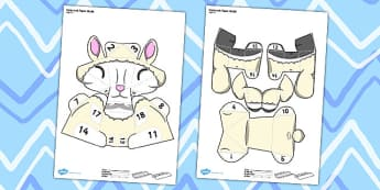 Cute Lamb Paper Model - cute, lamb, paper model, craft, model