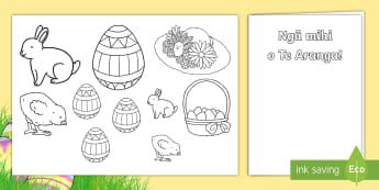Easter Gift Card Template Te Reo Māori - New Zealand Easter, maori