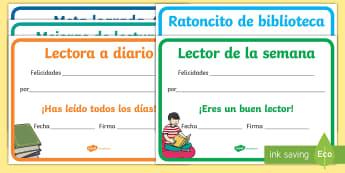 Diplomas: Lectura - diplomas editables, diploma, lectura, lector, leer, editable, premio, premios, ,Spanish