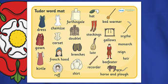 The Tudors Word Mat - Tudors, Henry, history, Henry VIII, Tudor, England, Queen Elizabeth I, Church of England, reformation