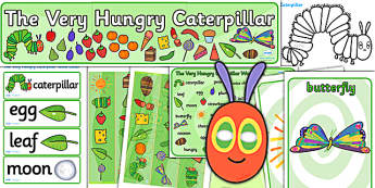 Pack de ressources : The Very Hungry Caterpillar (La chenille qui fait des trous) - Anglais LV