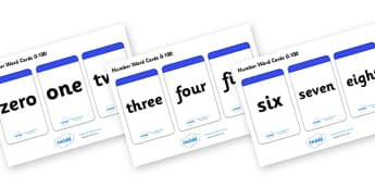 Number Word Cards (0-100) - Numeracy, number card, number word, math, number recognition, counting