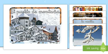 Fotos de exposición: El invierno - ES Invierno (Winter Spain), mural, decoración de la clase, vocabulario invierno,Spanish