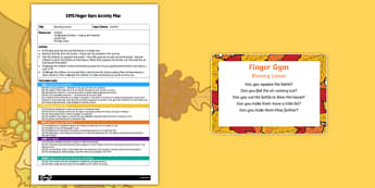 EYFS Blowing Leaves Finger Gym Plan and Prompt Card Pack