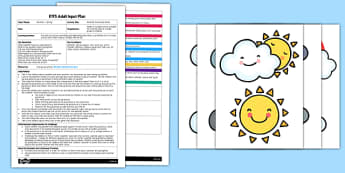 Weather Parachute Game EYFS Adult Input Plan and Resource Pack - EYFS, Early Years planning, adult led, spring, seasons, PSED, Personal, Social, Emotional Development