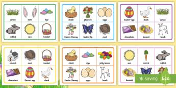 Easter Bingo - Canada Easter, easter, bingo, vocabulary, game, activity