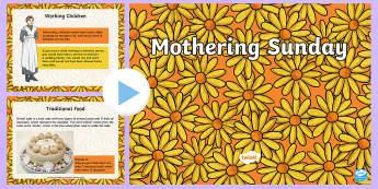 Mothering Sunday Information PowerPoint - KS1 & KS2 Mother's Day UK (26.3.17), Mothering Sunday, information PowerPoint, mothers, women, dome