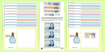 Workstation Pack: Money Matching – Using Notes Activity Pack