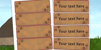 Iron Age Themed Editable Labels - history, signs, labels, display
