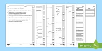 Llyfryn Mathemateg Gweithdrefnol Blwyddyn 3 Tymor 2 Ffracsiynau - Procedural Examples, tests, test, Numeracy Tests, procedural,  Years 5, years 6, Deunyddiau Sampl Gw