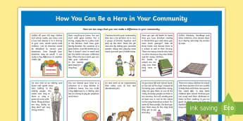 How You Can Be a Hero in Your Community Information  Poster - South Africa Youth Day 16 June, be a hero, make a difference , help, community, charity, poster, don